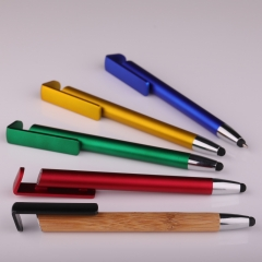 Stylus ball pen with cellphone stand
