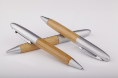 Personalized Quality Bamboo Twist Ball Point Pen
