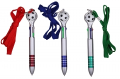 4Color Football Pen with Landyard