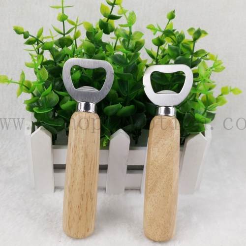 Wooden Handle Bottle Opener