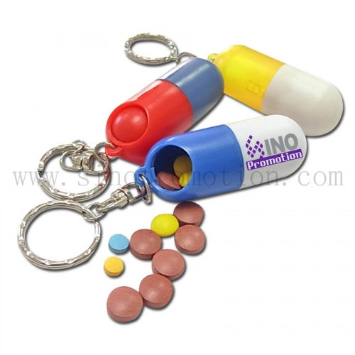 Portable Pill Case with Keyring