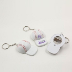 Baseball Cap Bottle Opener Keychain