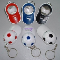 Football Cap Bottle Opener Keychain