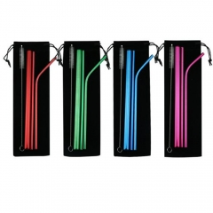 4pcs Stainless Steel Straw Set