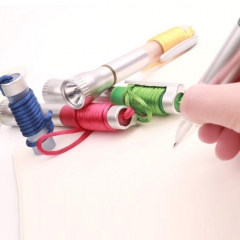 Flashlight with Pen and Landyard