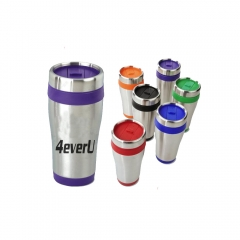 Steel Tumbler with Color Trim