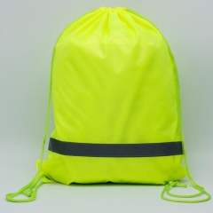 Reflective Strip Drawstring Backpack