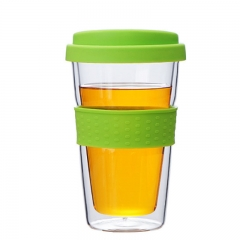 Double Walled Tumbler with Silicon Lid