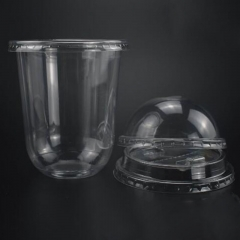 Clear Cup with Straw Slotted Lid