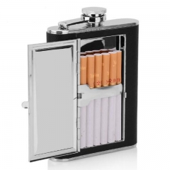 Hip Flask with Cigarette Box