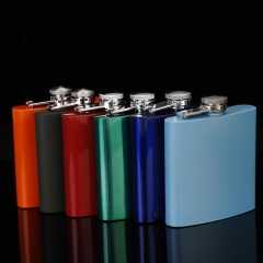Painted Hip Flask 6oz
