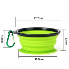 Collapsible Silicone Pet Bowl with Sucker