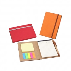 PU Leather Cover Sticky Book